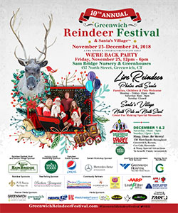 10th Annual Greenwich Holiday Stroll and Reindeer Fesitval - 2018